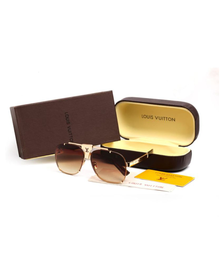 5fa03f761a LOUIS VUITTON SUNGLASSES Brown Square Sunglasses ( S34 ) - Buy LOUIS  VUITTON SUNGLASSES Brown Square Sunglasses ( S34 ) Online at Low Price -  Snapdeal