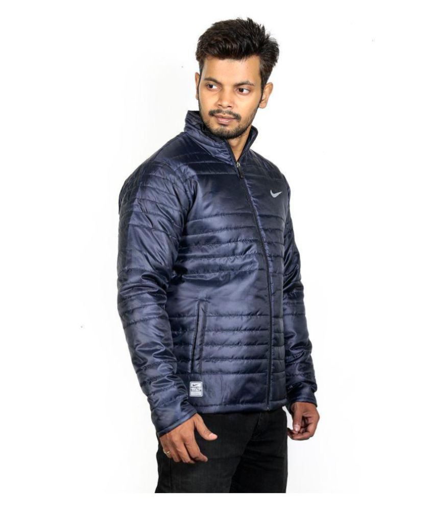 7194c28833 Nike Navy Polyester Viscose Fleece Jacket - Buy Nike Navy Polyester ...