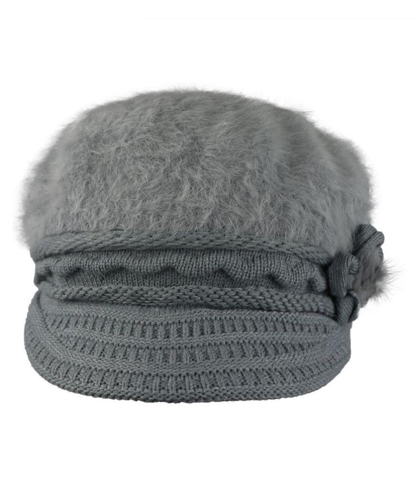 ed0a6e16308d6 ... Free iSweven Fashionable Woolen Visor Beanie Cap For Women
