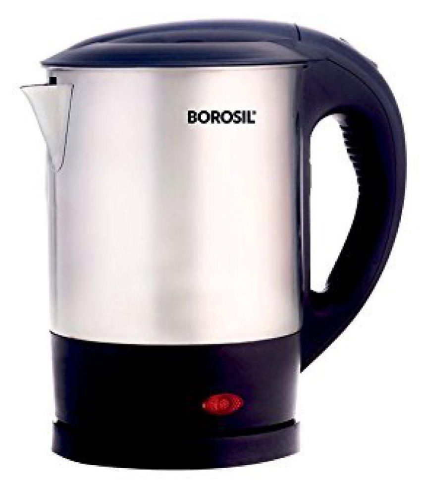 Bajaj 1.2L SS Cordless Kettle Electric Kettle  (1.2 L, Silver And Black)
