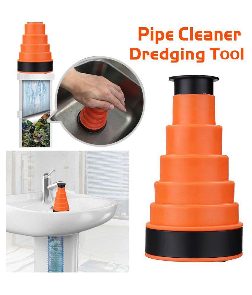 Bath kitchen sink high pressure drain blaster sink plunger pipe dredging tool