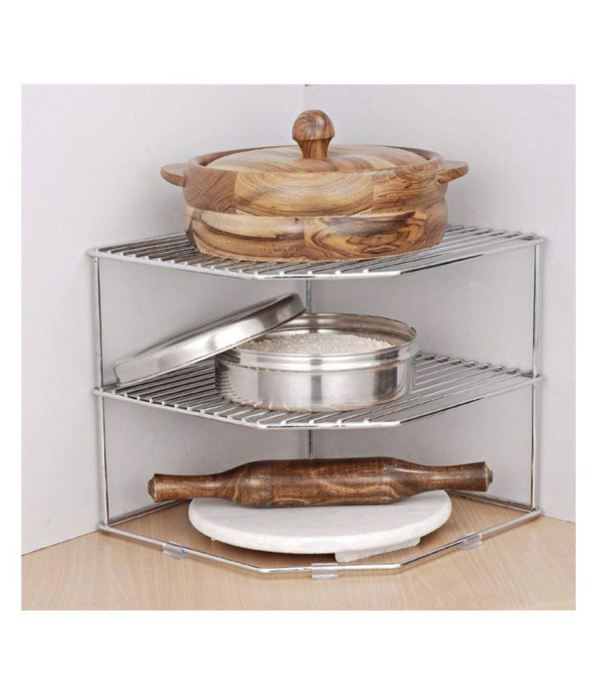 stainless steel 12 x 12 x 12 inch multipurpose corner shelf rh snapdeal com