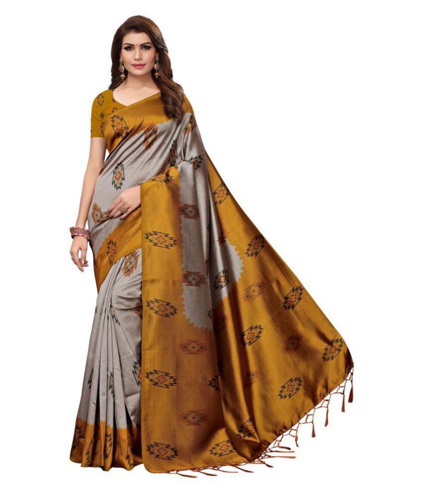 Pagazo Multicoloured Art Silk Saree