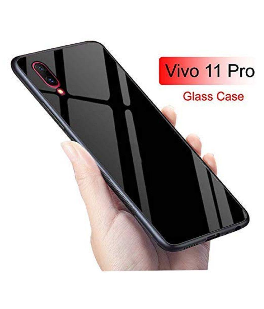 Vivo V11 Pro Glass Cover Lenis - Black