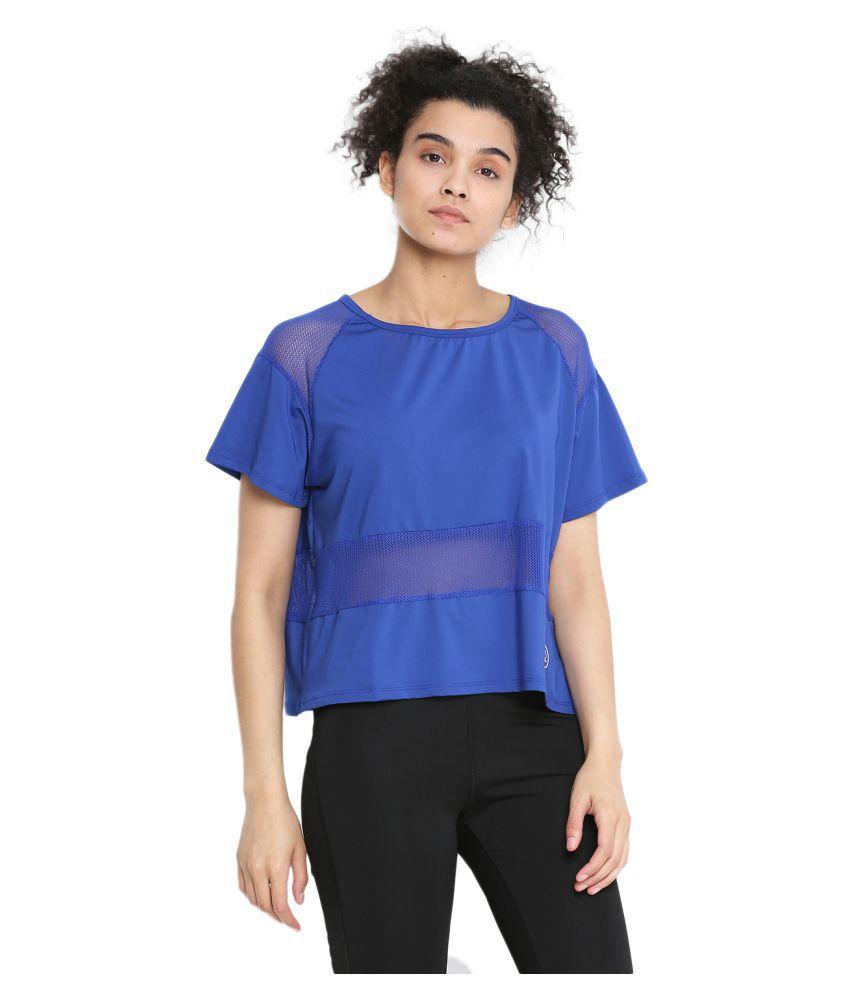 CHKOKKO Half Sleeve Gym Yoga Sports Wear Mesh Crop Top for Women