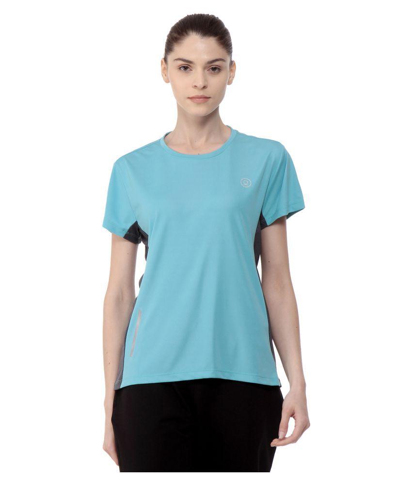 CHKOKKO Round Neck Half Sleeve Yoga, Sports, Dryfit Active Wear Gym Tshirt for Women Gym Wear Women/Tight Women/Yoga Dress