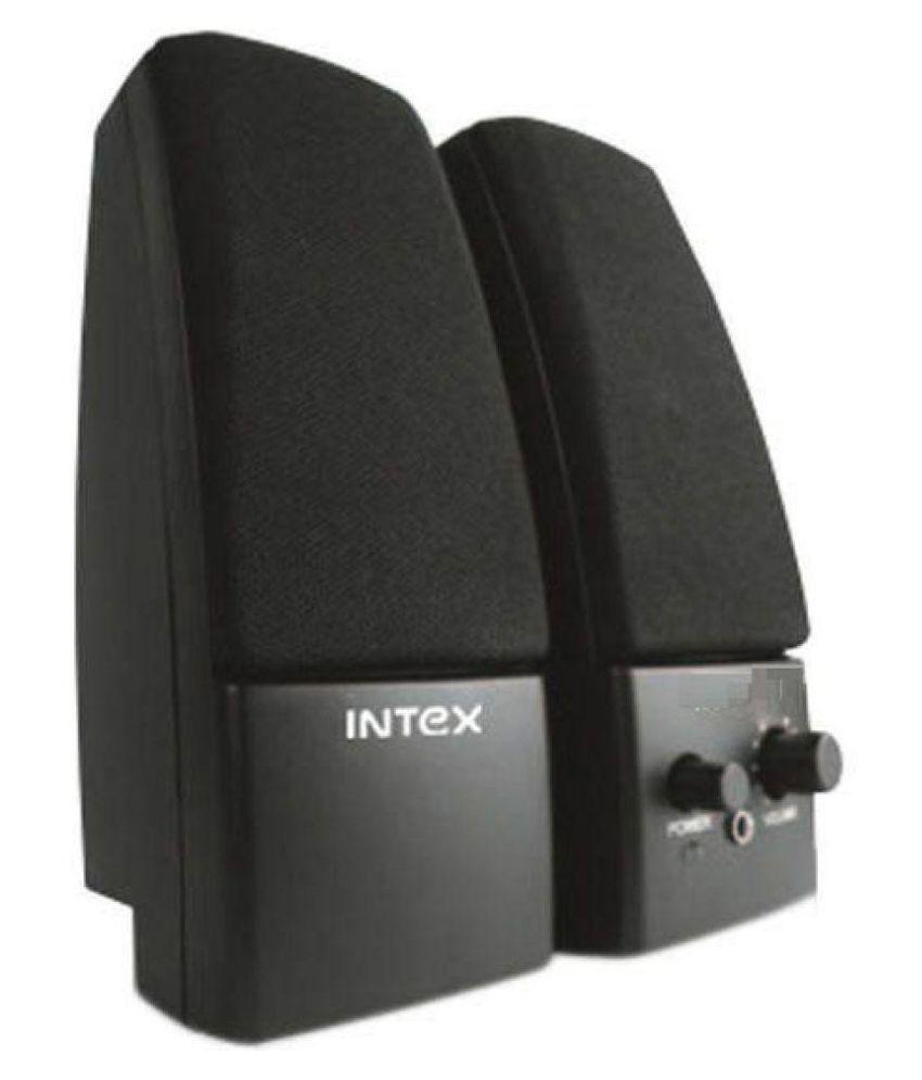 Intex IT 350S 2.0 Multimedia Speakers 2.0 Speakers   Black