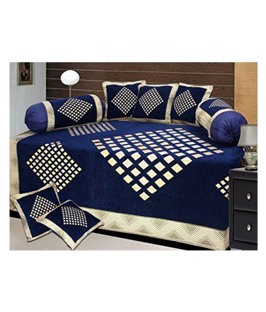 Laying Style 5 Seater Jacquard Set Of 18 Sofa Cover Set