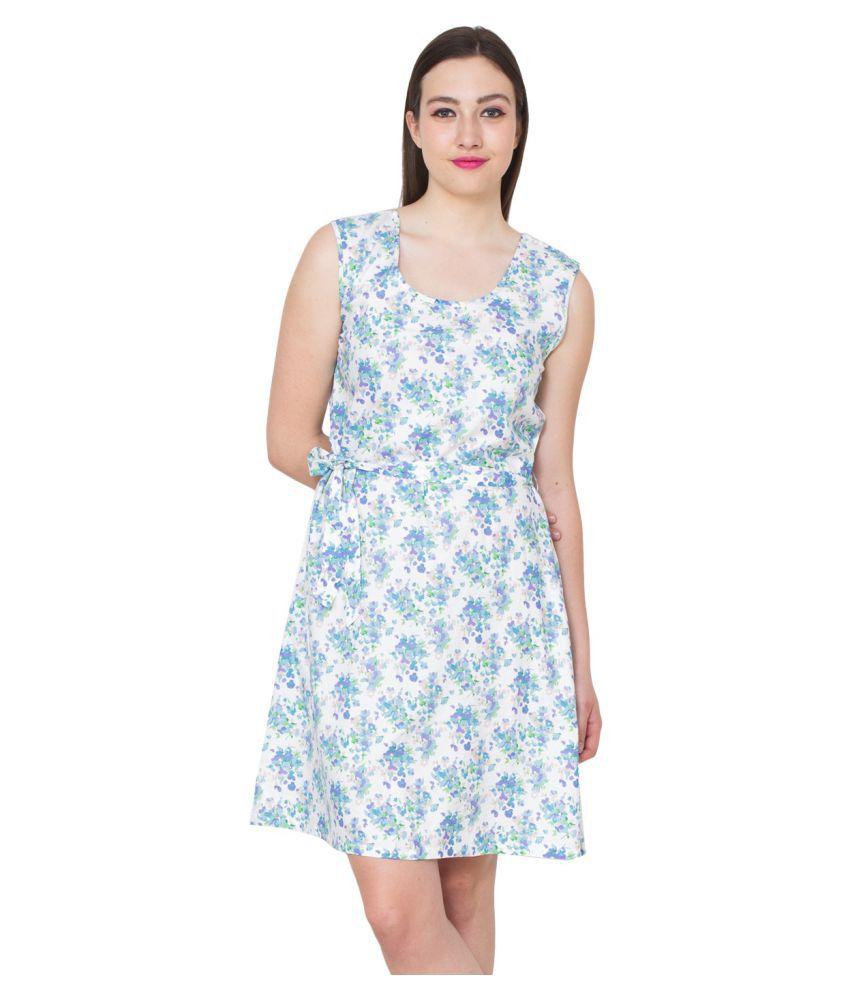 Patrorna Silk Multi Color A- line Dress