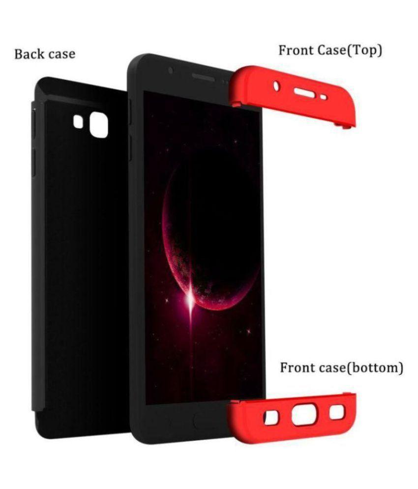 buy online 5d49f 2c72f Samsung Galaxy J7 Prime Shock Proof Case JMA - Red Original Gkk 360°  Protection Slim Case