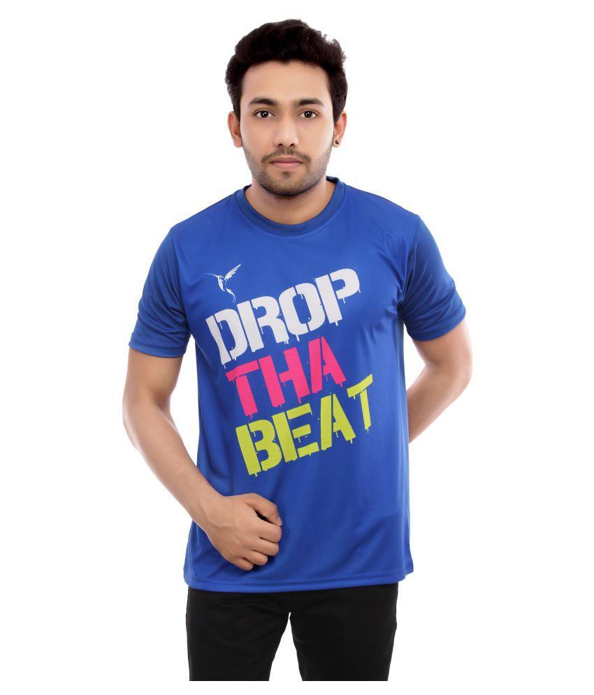 Triumph Blue Half Sleeve T-Shirt