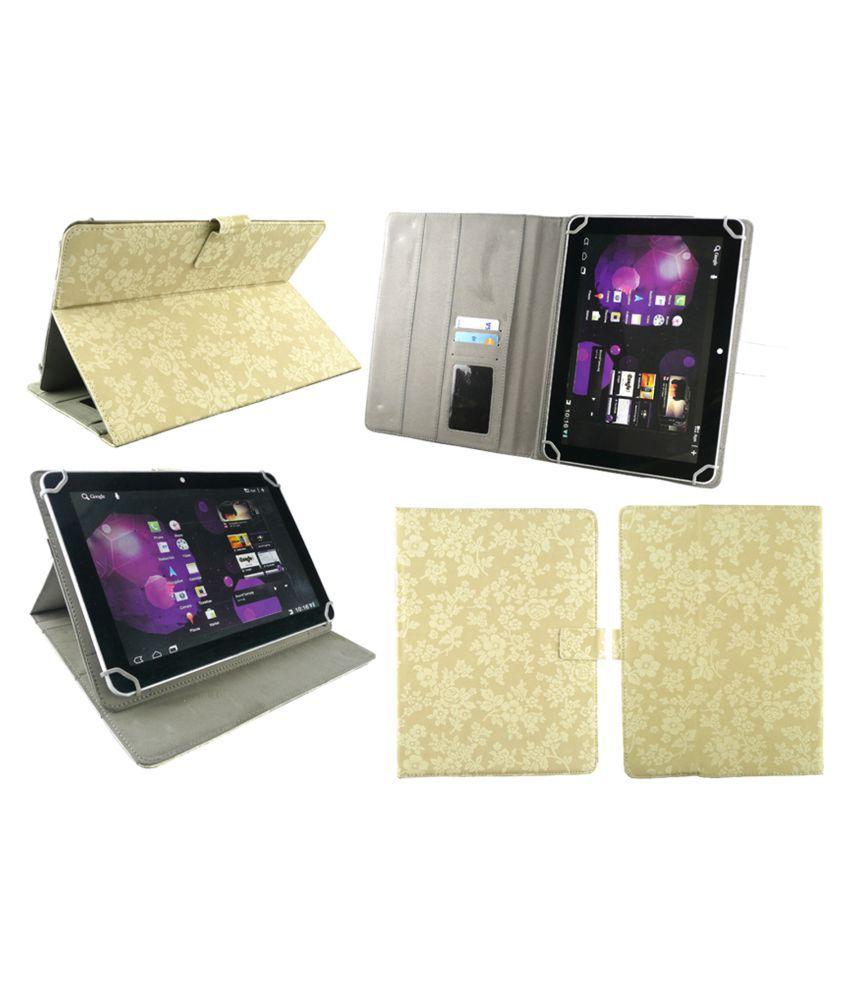 Samsung Galaxy Tab P7500 Flip Cover By Emartbuy Beige