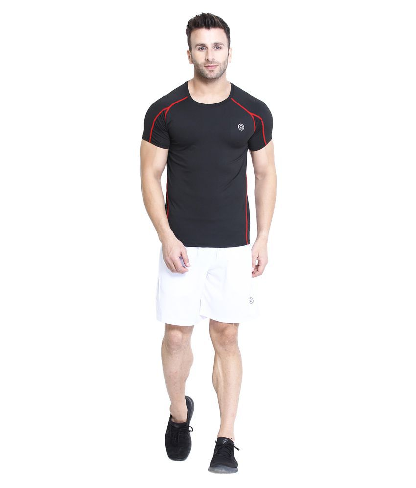CHKOKKO Men's Compression Half Sleeve High Performance Plain Cool Dry Athletic Fit Multi Sports Stretchable Tshirts for Men