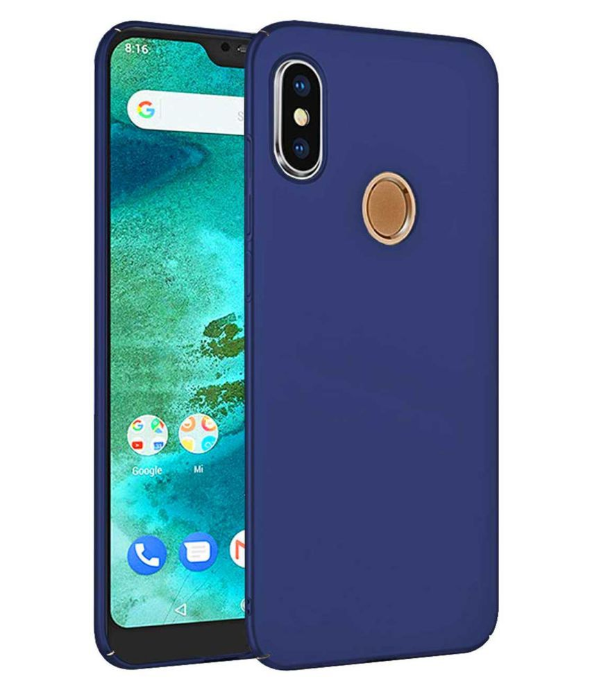 the best attitude 5ecbe 1ff04 Xiaomi Redmi Note 6 Pro Plain Cases TBZ - Blue