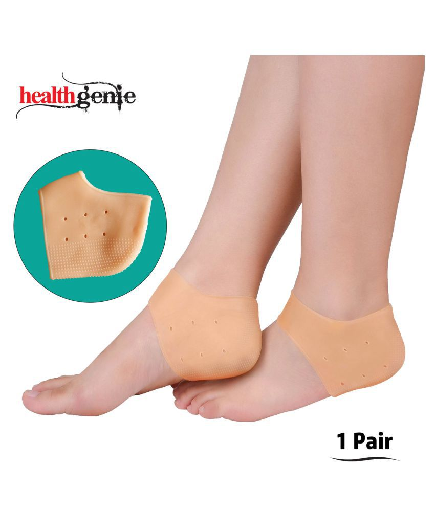 Healthgenie Silicone Gel Heel Pad Socks With Aloe Vera Fragrance For Pain Relief;Dry;Hard or Cracked Heels