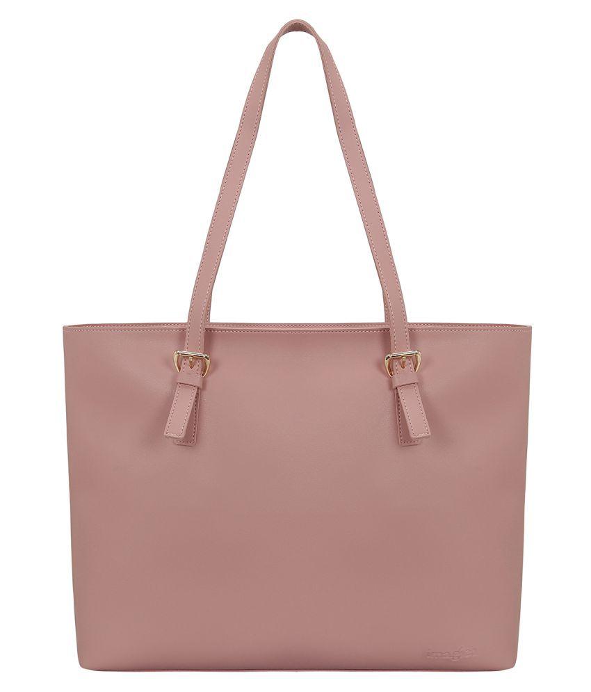 Imagica Pink P.U. Tote Bag