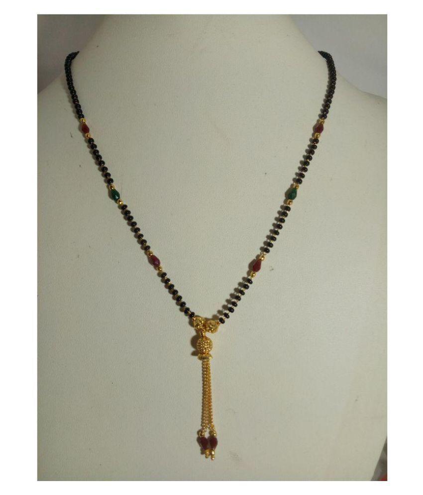 1gram  Black bead short chain