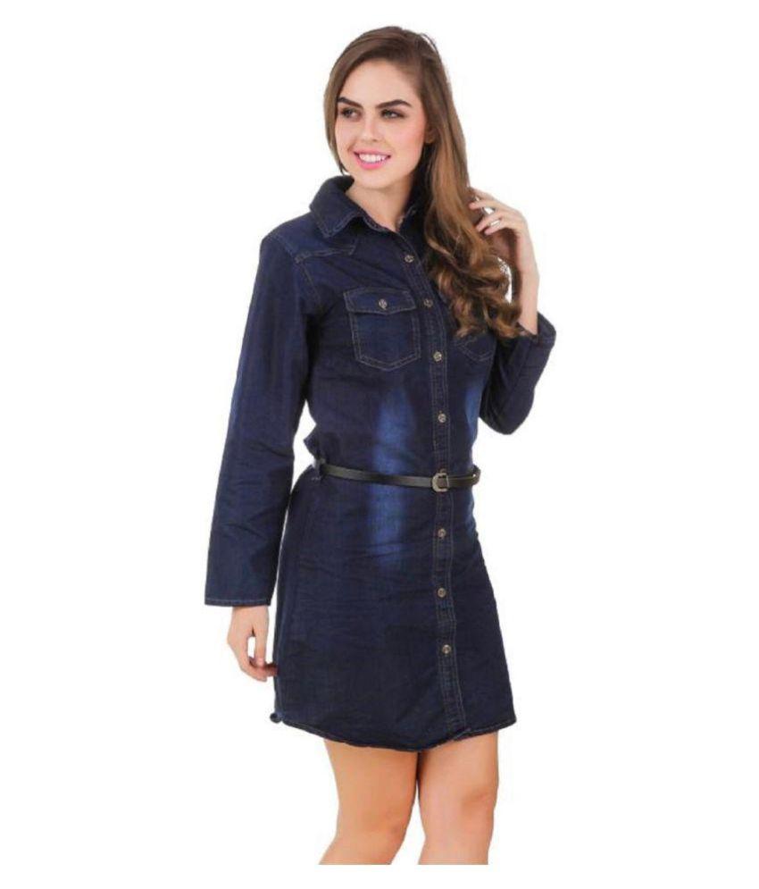 Adiba Denim Tunics - Blue