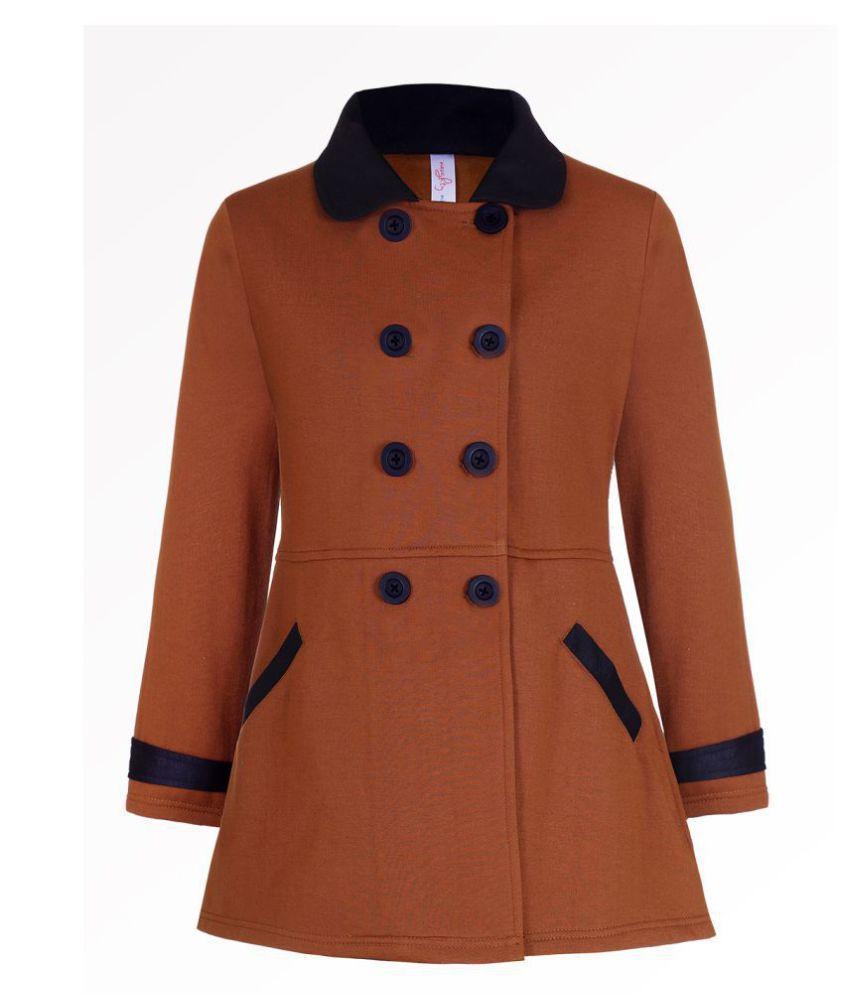 Naughty Ninos Girls Brown Fleece Front Open Jacket
