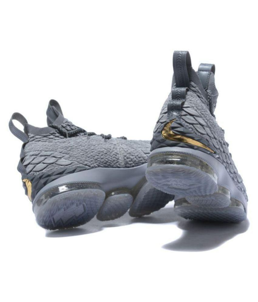 sports shoes 06cfd 2f58e Nike LEBRON 15 WOLF GREY Gray Basketball Shoes - Buy Nike LEBRON 15 WOLF  GREY Gray Basketball Shoes Online at Best Prices in India on Snapdeal