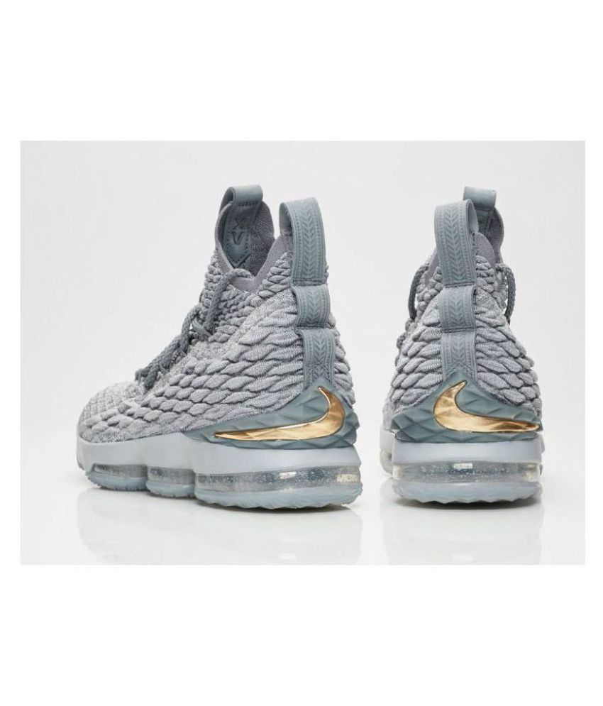 0a588693ccd Nike LEBRON 15 WOLF GREY Gray Basketball Shoes - Buy Nike LEBRON 15 ...