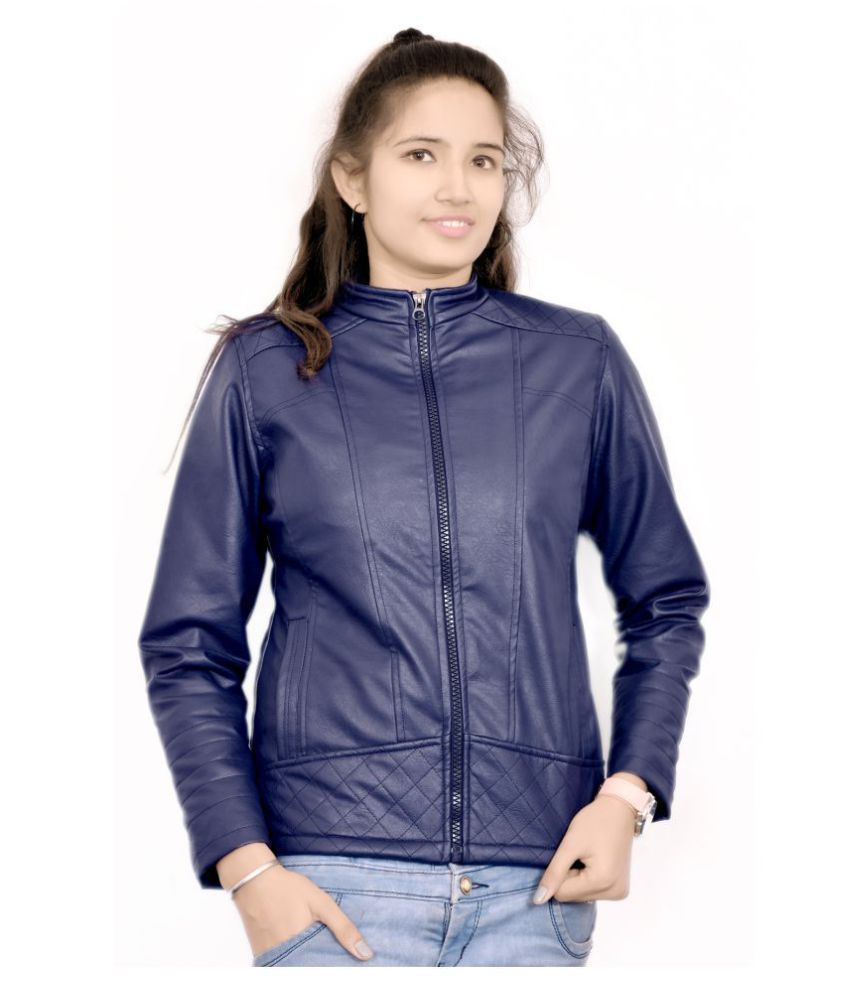 4fe6f034f7 Buy AD & AV Faux Leather Blue Jackets Online at Best Prices in India -  Snapdeal