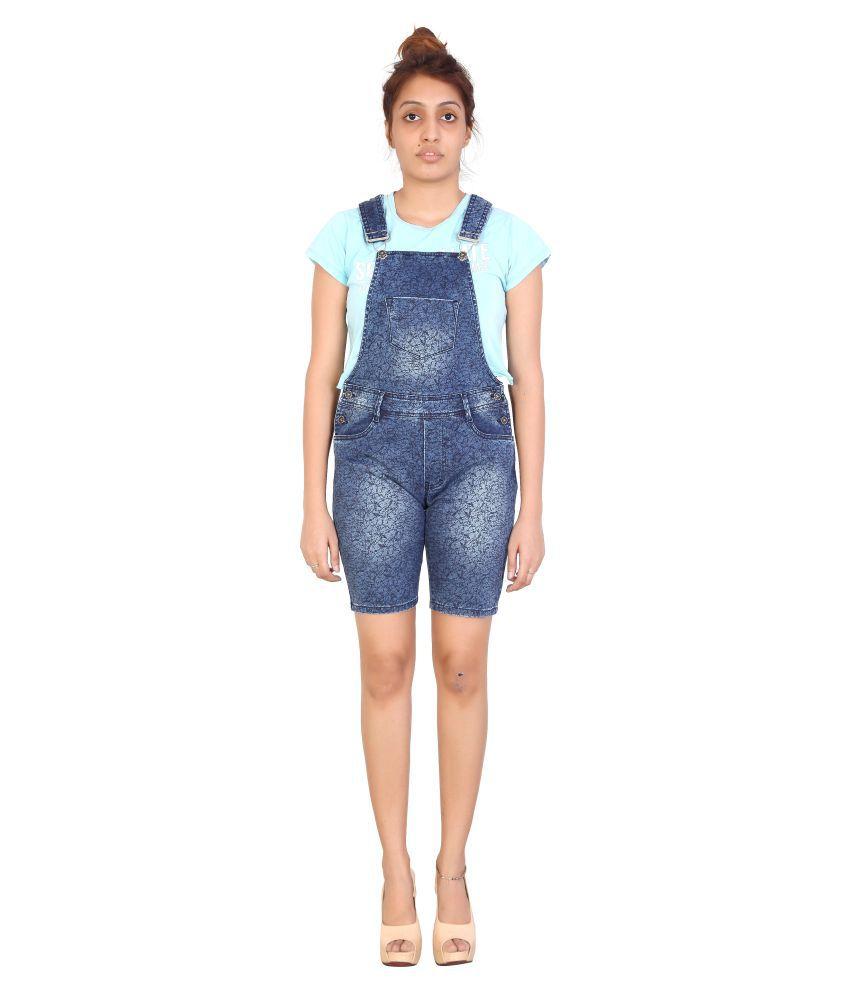 FCK-3 Blue Denim Jumpsuit