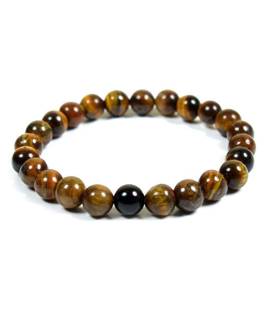Tiger Eye Crystal & Black Onyx Crystal Stretch 8 MM Bracelet