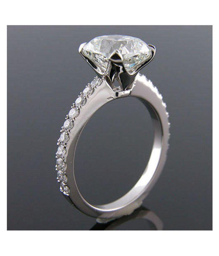 jinaldiamond 92.5 Silver Moissanite Ring