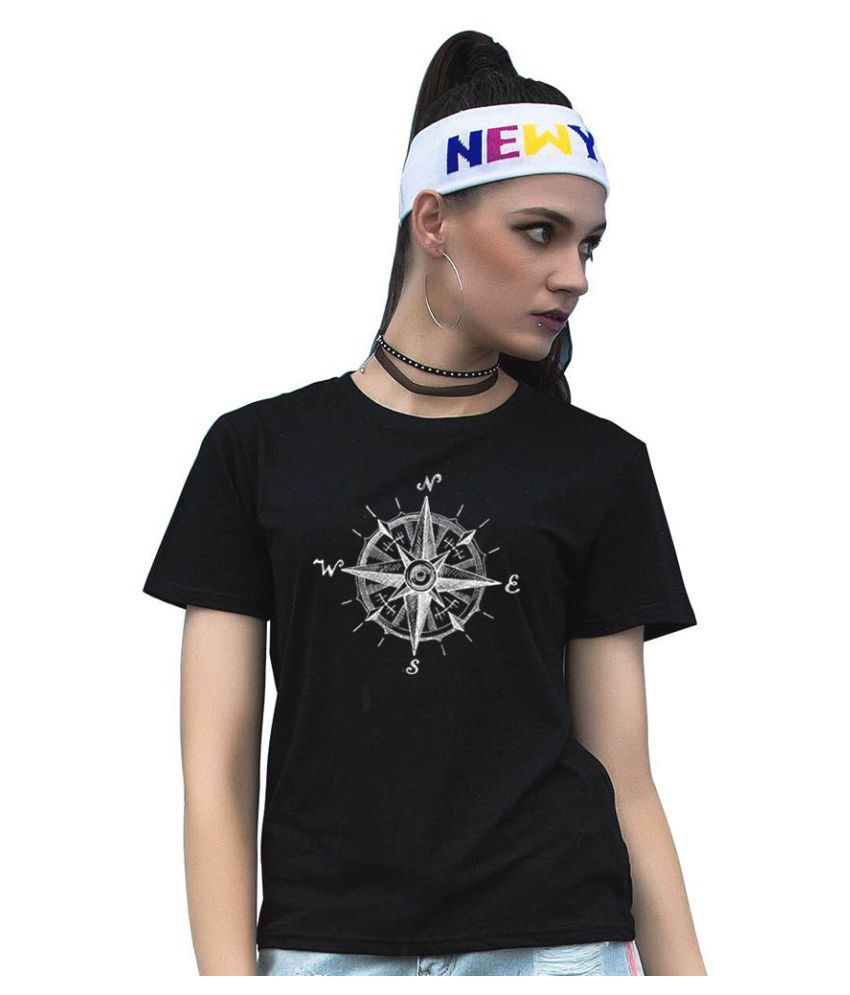 Simple Compass Pattern Soft Cotton Short Sleeve Men Women T-shirt Top Tee Gift