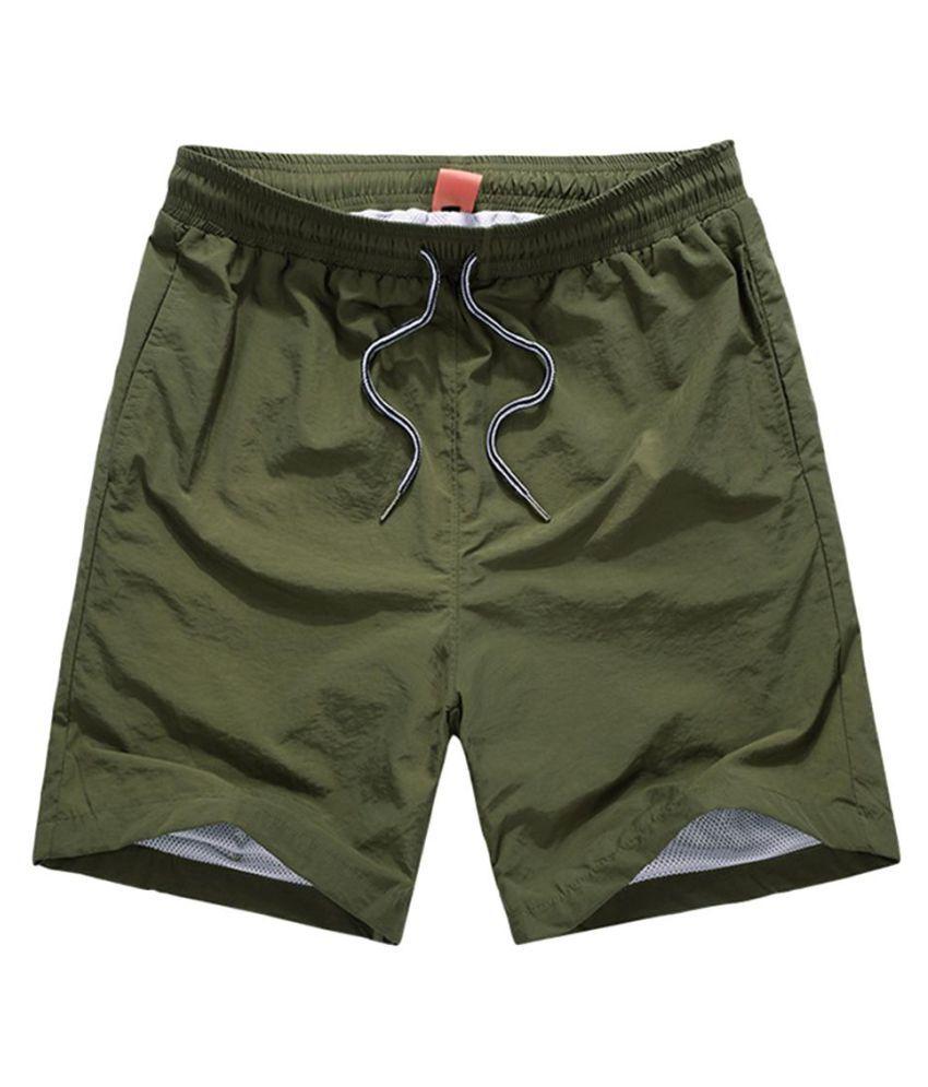 Summer Men Women Swimming Workout Fitness Sports Beach Surf Quick Dry Shorts