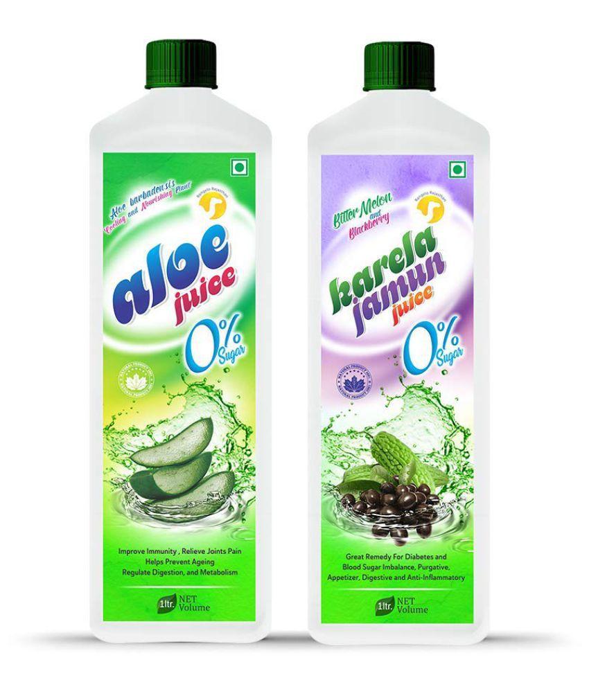 Rangelo Rajasthan Aloe Vera  & Karela Jamun Juice- Health Drink 1000 ml Pack of 2
