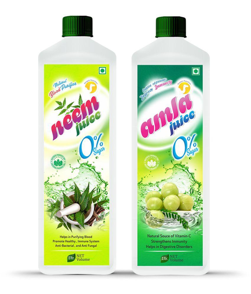 Rangelo Rajasthan Neem & Amla Juice- Health Drink 1000 ml Pack of 2