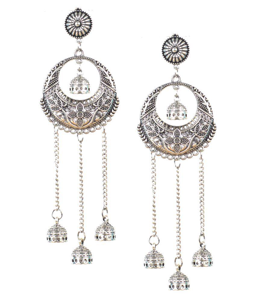Stunning German Silver Earrings Online In India