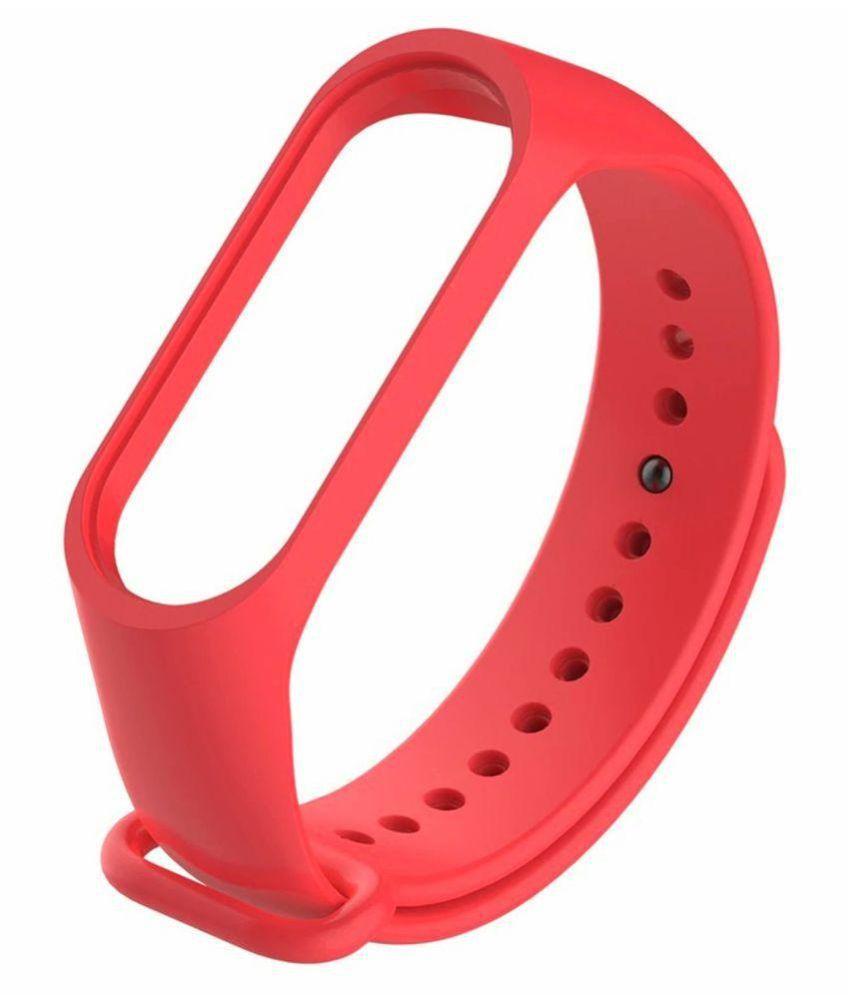 WOW Imagine Premium Matte Silicon Wrist Band Replacement For Xiaomi MI Band 3 - Coral Red