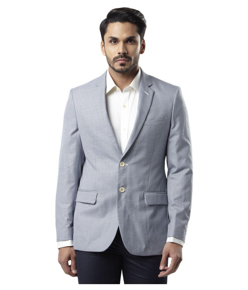 29d708f01 Raymond Blue Solid Formal Blazers