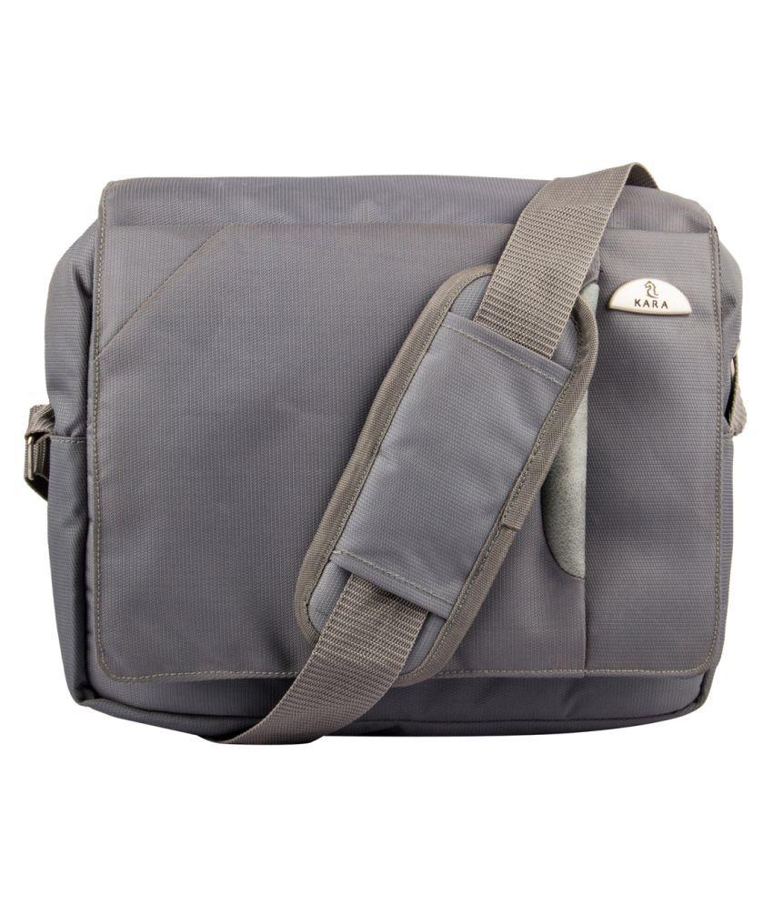 Kara Grey Nylon Casual Messenger Bag