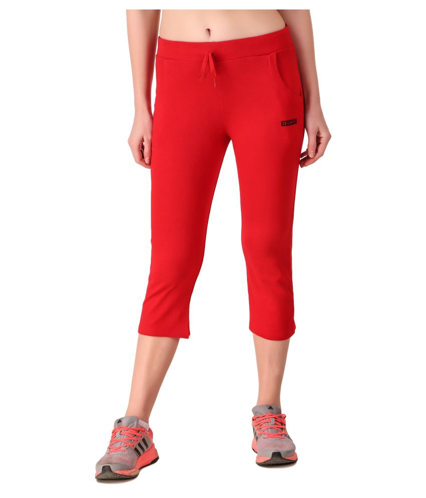 Be You Cotton Tights - Red