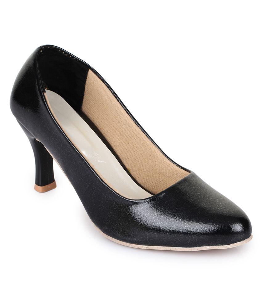 Fashtyle Black Block Heels