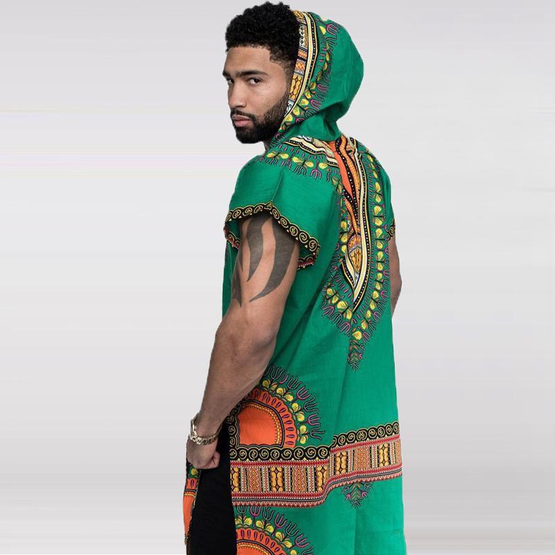 African Dashiki Men V Neck T-shirt Hippy Tribal Ethnic Tops Casual Blouse Autumn