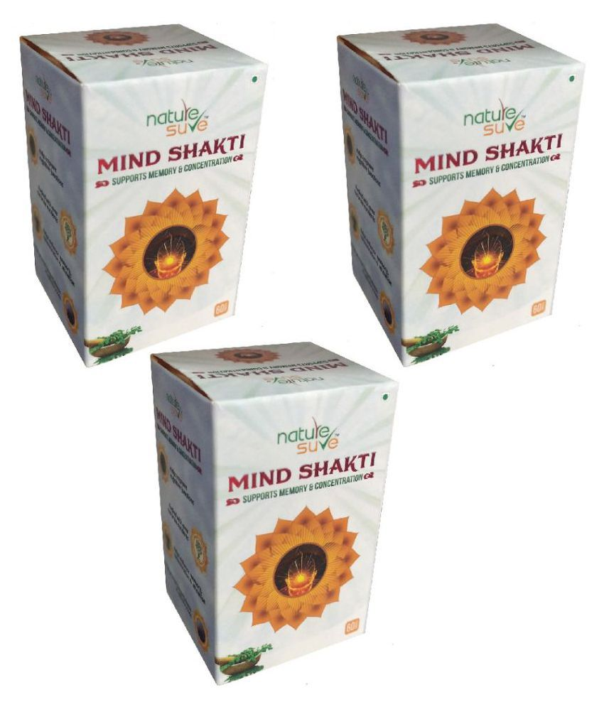Nature Sure Mind Shakti Tablet 180 no.s Pack of 3