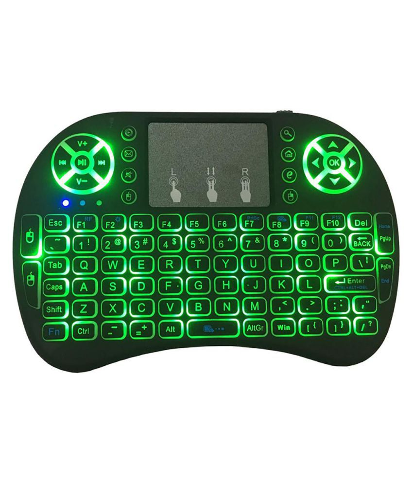2.4GHz Mini Backlit Wireless Touchpad Keyboard Air Mouse for Laptop PC TV Box