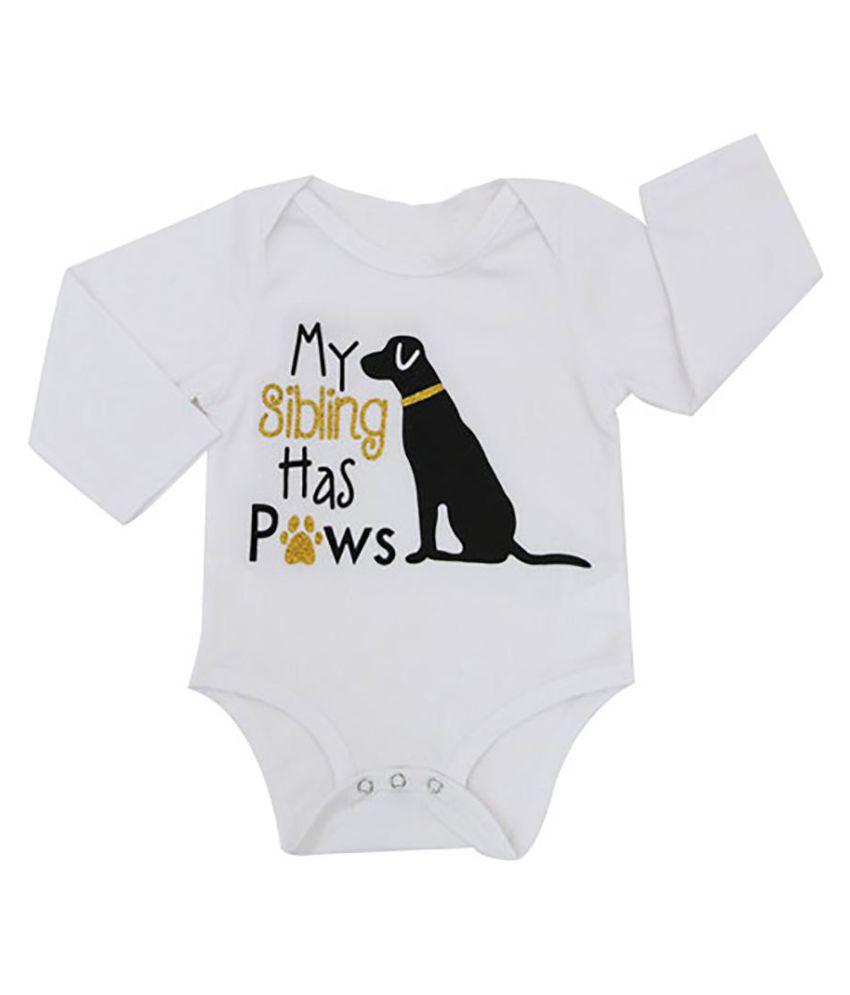 fac70650c Infant Boys Girls Long Sleeve Dog Romper Newborn Baby Babysuit Soft ...