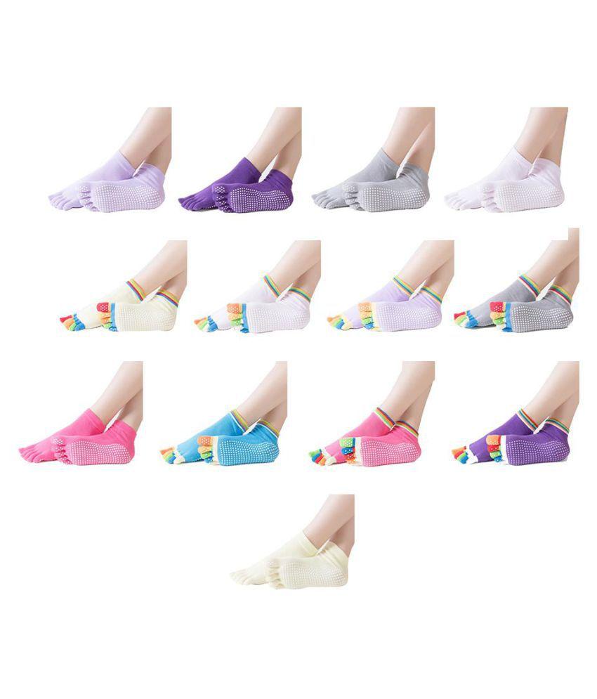Cute Cotton Toe Non-slip Socks Lady Massage Yoga Sports Five Toe Socks