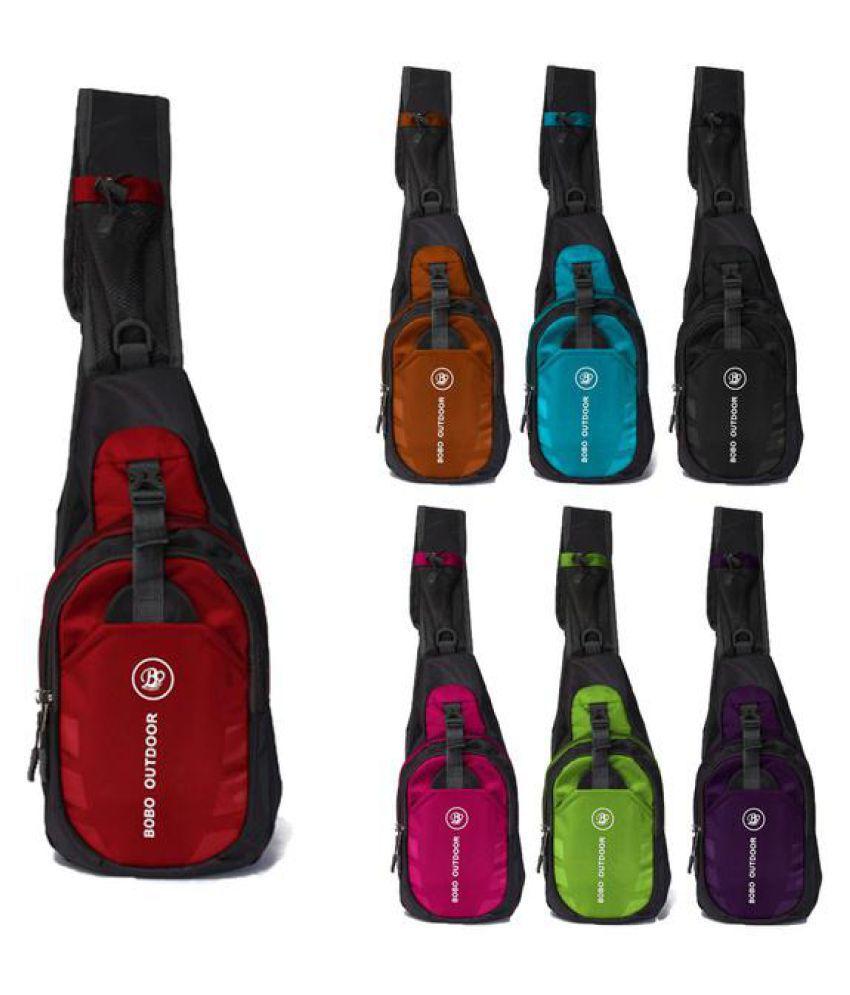 Men Waterproof Nylon Messenger Shoulder Casual Bag Sport Running Outdoor Backpack