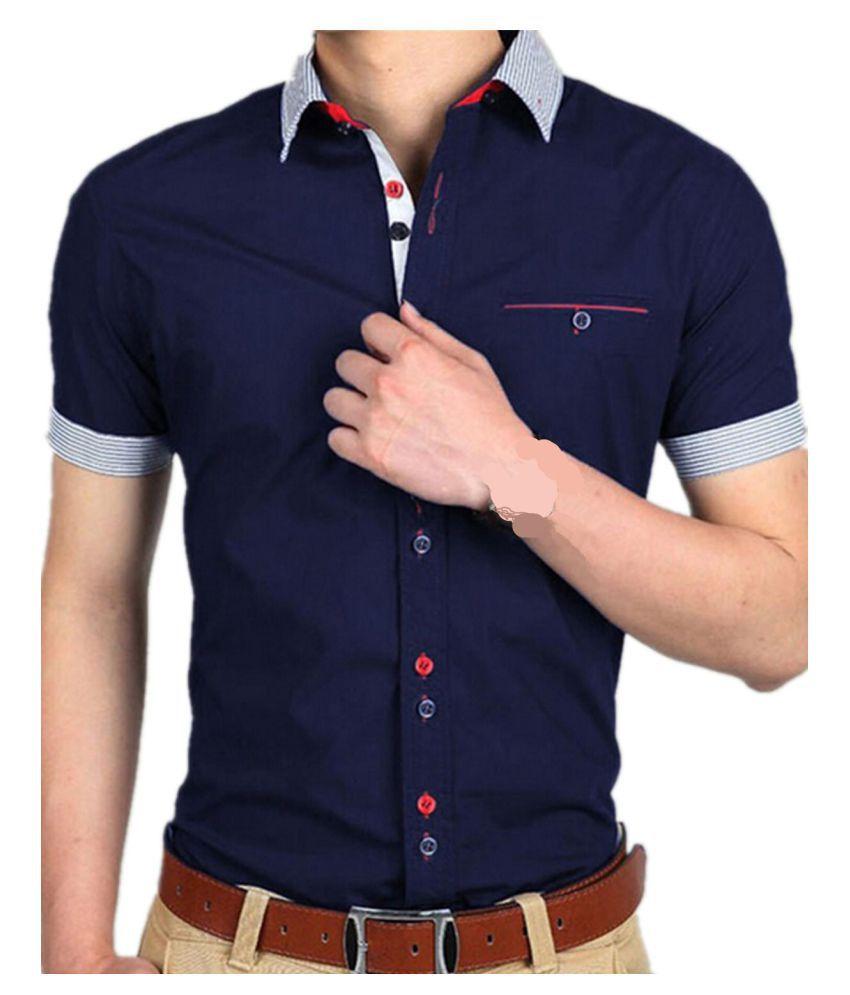 US STOCK Men's Short Sleeve Business Formal Dress Slim Fit Top Shirt S-XL