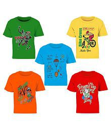 01193330 Quick View. Kiddeo Kidwear Fullsleeve Round neck 100% Cotton MultiColour  T-Shirts For Boys