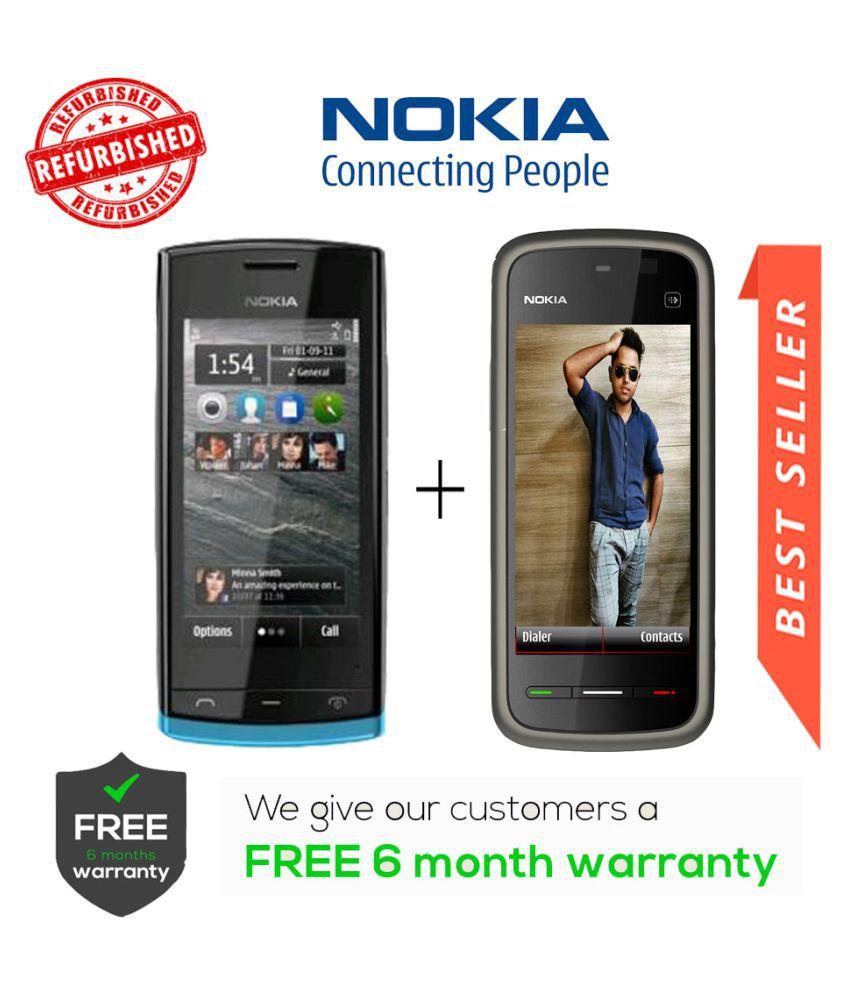 Camolinz Nokia 500 Get 5233 Black - Feature Phone Online at