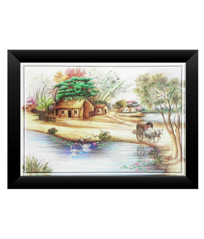 Springvalley Acrylic Wall Hanging Black Single Photo Frame - Pack of 1