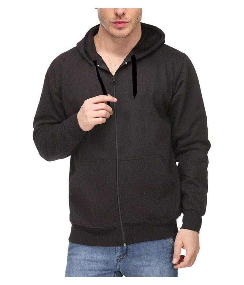 Black Core Fleece Pullover Hoodie Sweatshirt with Zip By Nike